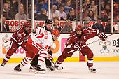 Lewis Zerter-Gossage (Harvard - 77), Jakob Forsbacka Karlsson (BU - 23), Alexander Kerfoot (Harvard - 14) - The Harvard University Crimson defeated the Boston University Terriers 6-3 (EN) to win the 2017 Beanpot on Monday, February 13, 2017, at TD Garden in Boston, Massachusetts.