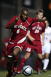 NC State's El Hadj Cisse on Friday, October 21st, 2005 at Koskinen Stadium in Durham, North Carolina. The Duke University Blue Devils defeated the North Carolina State University Wolfpack 6-0 during an NCAA Division I Men's Soccer game.