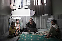 Mohammed Ali Kilis is father of two boys and one girl. His family is from Azaz, from where he and his family had to fled due the heavy fighting between Syrian army and the rebels into Aleppo two months ago. Then due the aircraft shelling in Aleppo City they are now taking temporary shelter in Manbij City, located at the northeast of Aleppo province.
