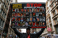 People holds a protest against police brutality against minorities on  0413.2015. in New York city Kena Betancur/VIEWpress.