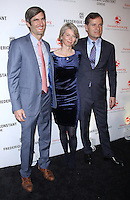 NEW YORK, NY-November 02:Founder and CEO of DonorsChoose.org Charles Best, Aletta Stas-Bax and CEO of Frederique Constant Peter Stas at Frederique Constant Horological Smartwatch Launch at Spring Studio in New York.November 02, 2016. Credit:RW/MediaPunch
