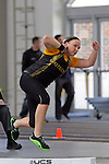 12 MAR 2011: Breanna Strupp of Wisconsin Oshkosh throws shot put during the Division III Men's and Women's Indoor Track and Field Championships held at the Capital Center Fieldhouse on the Capital University campus in Columbus, OH.  Jay LaPrete/NCAA Photos