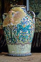 Ceramics, Nabeul, Tunisia.  Antique Kharraz Pot, early 20th. Century.