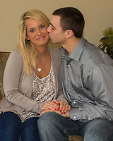 John & Amanda's engagement session, March 17, 2013 in Poland Ohio.