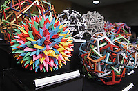 OrigamiUSA 2014 exhibition. Modular origami designed and folded by Byriah Loper