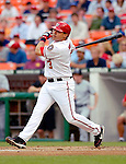 13 June 2006: Jose Vidro, second baseman for the Washington Nationals, at bat against the Colorado Rockies at RFK Stadium, in Washington, DC. The Rockies defeated the Nationals 9-2 in the second game of the four-game series...Mandatory Photo Credit: Ed Wolfstein Photo..