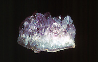 AMETHYST CRYSTALS (SiO2) IN GEODE<br /> (Variations Available)<br /> Crystallized Silica Group<br /> Hexagonal -Trigonal trapezohedral<br /> A variety of quartz with violet to purple color, which is caused by the presence of compounds of iron or manganese. Hardness 7; glassy luster. Brazil.