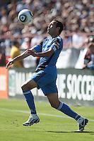 San Jose Earthquakes midfielder Ramiro Corrales (12) controls the ball. The San Jose Earthquakes tied the Los Angeles Galaxy 0-0 at Buck Shaw Stadium in Santa Clara, California on June 25th, 2011.