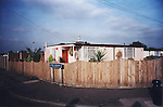 The Catford prefabs estate in South London, 2004. Thousands of post-war prefabs are still being lived in and cherished by their tenants or owners all over the UK.