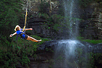 GRASKOP, SOUTH AFRICA, DECEMBER 2004. The Graskop Gorge swing brings beautiful views and lots of adrenaline. South African Nature offers some of the world's best adrenaline sports and outdoor challenges. Photo by Frits Meyst/Adventure4ever.com