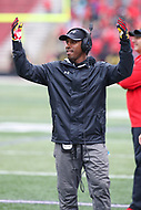 College Park, MD - April 22, 2017: Aazaar Abdul-Rahim during game the Maryland Spring Game at  Capital One Field at Maryland Stadium in College Park, MD.  (Photo by Elliott Brown/Media Images International)