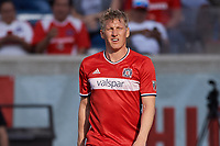 Bridgeview, IL - Saturday, April 15, 2017: The Chicago fire played the New England Revolution in a Major League Soccer (MLS) game at Toyota Park. The Chicago Fire defeated the New England Revolution by the score of 3-0.