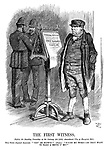 """The First Witness. (Before the Standing Committee on the Larceny Act (1861) Amendment (Use of Firearms) Bill.) Bill Sykes (injured innocent). """"'Cat' be blow'd!"""" (Pause.) """"'P-o-on my word!—Do they want to make a brute o' me?"""""""