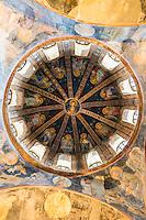 Church of St Saviour in Chora, Kariye Museum St Savior dome fresco madonna Virgin Mary and Christ Child, Istanbul, Turkey