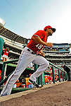 9 July 2011: Washington Nationals infielder Danny Espinosa takes to the field for a game against the Colorado Rockies at Nationals Park in Washington, District of Columbia. The Nationals were edged out by the Rockies 2-1, dropping the second game of their 3-game series. Mandatory Credit: Ed Wolfstein Photo