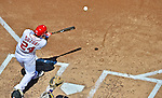24 September 2012: Washington Nationals catcher Kurt Suzuki at bat against the Milwaukee Brewers at Nationals Park in Washington, DC. The Nationals defeated the Brewers 12-2 in the final game of their 4-game series, splitting the series at two. Mandatory Credit: Ed Wolfstein Photo