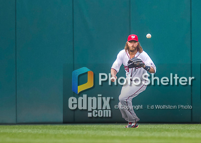 28 April 2016: Washington Nationals outfielder Jayson Werth in action against the Philadelphia Phillies at Nationals Park in Washington, DC. The Phillies shut out the Nationals 3-0 to sweep their mid-week, 3-game series. Mandatory Credit: Ed Wolfstein Photo *** RAW (NEF) Image File Available ***