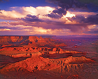 Sunset Storm Clouds at Dead Horse Point, Dead Horse Point State Park, Utah