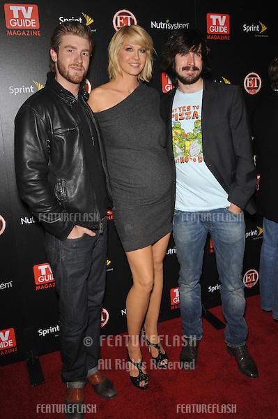 """Accidentally on Purpose"" stars Jenna Elfman,  Jon Foster (left) & Nicholas Wright at TV Guide Magazine's Hot List Party at the SLS Hotel, Beverly Hills..November 10, 2009  Los Angeles, CA.Picture: Paul Smith / Featureflash"