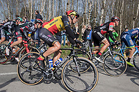 Philippe Gilbert (BEL/Quick Step floors) &amp; Greg Van Avermaet (BEL/BMC) already close to each other early in the race<br /> <br /> 60th E3 Harelbeke (1.UWT)<br /> 1day race: Harelbeke &rsaquo; Harelbeke - BEL (206km)