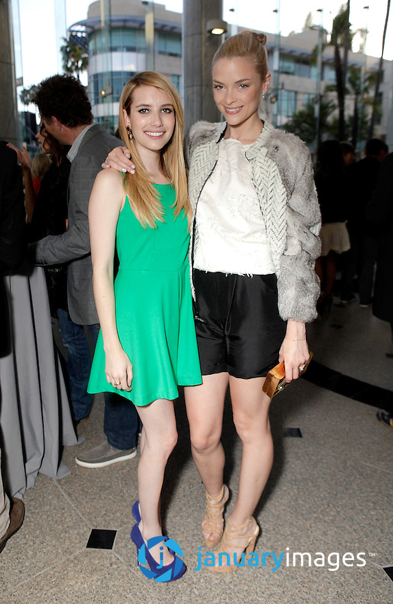 """BEVERLY HILLS, CA - JUNE 06:  Emma Roberts and Jamie King attend a Fox Searchlight screening Of """"The Art Of Getting By"""" at Clarity Theater on June 6, 2011 in Beverly Hills, California.  (Photo by Todd Williamson/WireImage)"""