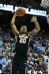 20 January 2016: Wake Forest's John Collins. The University of North Carolina Tar Heels hosted the Wake Forest University Demon Deacons at the Dean E. Smith Center in Chapel Hill, North Carolina in a 2015-16 NCAA Division I Men's Basketball game. UNC won the game 83-68.