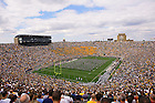 Notre Dame Stadium, 2005 MSU game.<br />
