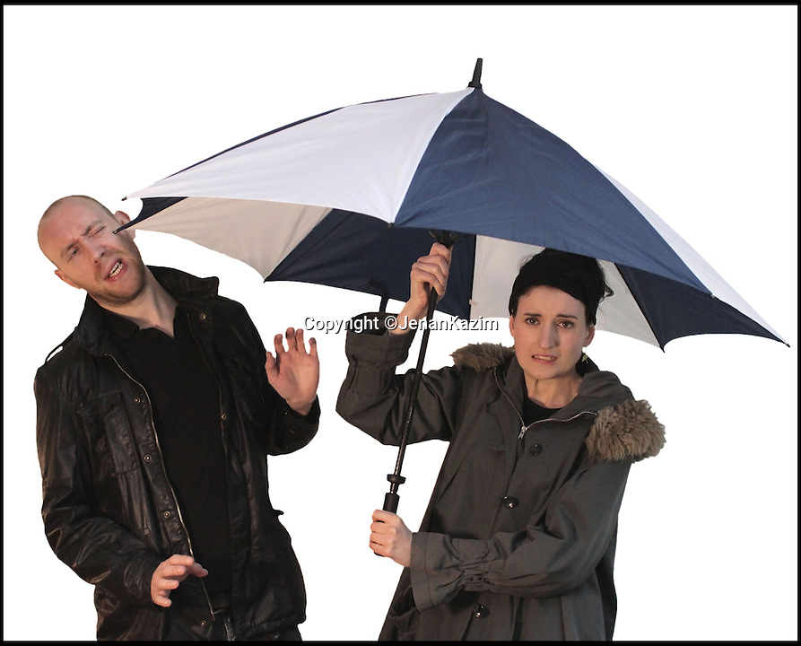 BNPS.co.uk (01202 558833)<br /> Pic: JenanKazim/BNPS<br /> <br /> ***Please Use Full Byline***<br /> <br /> A traditional umbrella is known for poking users eyes.<br /> <br /> <br /> Inventor Jenan Kazim is turning world of the humble brollie inside out - after designing one that folds inwards to stop water dripping onto the floor.<br /> <br /> Rather than creating pools of rainwater on the floor when it is put away like standard umbrellas, Jenan's clever idea folds the opposite way collecting drips inside it.<br /> <br /> And thanks to its canny design which opens from the top rather than the bottom it puts paid to the age-old problem of poking passers-by in the head with brolly spokes.<br /> <br /> It also means users can stay dry for longer by putting their umbrellas down once they are sat inside their cars rather than before. <br /> <br /> The umbrella, which has been named the KAZbrella, will cost around 45 pounds when it is launched just in time for Britain's notoriously wet winter.