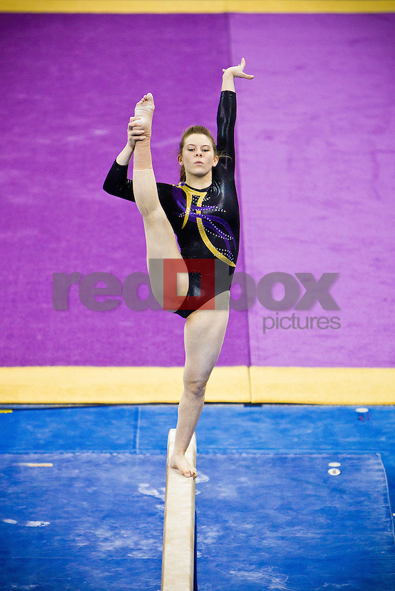 Jackie McCartin - The University of Washington gymnastics team competes in their annual intrasquad meet at Alaska Airlines Arena Saturday, Dec. 11, 2011. (Photography by Andy Rogers/Red Box Pictures)