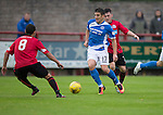 Brechin City v St Johnstone&hellip;26.07.16  Glebe Park, Brechin. Betfred Cup<br />Michael Coulson gets between Finn Graham and James Dale<br />Picture by Graeme Hart.<br />Copyright Perthshire Picture Agency<br />Tel: 01738 623350  Mobile: 07990 594431