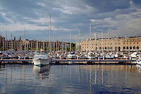 Barcelona, Spain, Port Vell Marina, Luxury Yachts