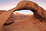 Intense Sierra Sunrise at Sunrise Arch, Eastern Sierra