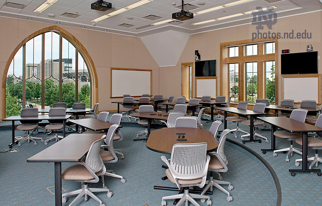 July 3, 2013; Classroom in Stayer Center. (Photo by Barbara Johnston/University of Notre Dame)