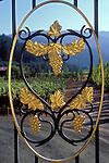 Entrance gate to Paoletti winery near Calistoga
