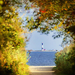Lighthouse View from Gardiner Park in Bayshore