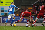 St Johnstone v Aberdeen...06.02.16   SPFL   McDiarmid Park, Perth<br /> David Wotherspoon scores to make it 2-1<br /> Picture by Graeme Hart.<br /> Copyright Perthshire Picture Agency<br /> Tel: 01738 623350  Mobile: 07990 594431