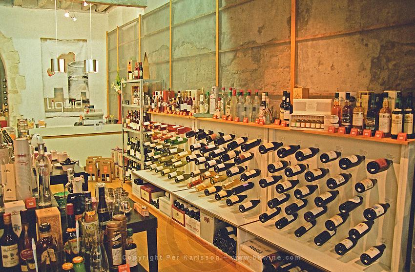 Wine shop. Avignon. Rhone Valley, France