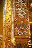 Byzantine Christian Mosaics of The Palatine Chapel  ( Capella Palatina) in The Norman Palace (Palazzo dei Normanni), Palermo, Sicily. Scenes of Christ and from the Bible.