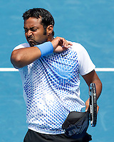 Mahesh Bhupathi (IND) (3) & Leander Paes (IND) (3) against Max Mirnyi (BLR) (2) & Daniel Nestor (CAN) (2) in the semi-finals of the men's doubles. Bhupati & Paes beat Mirnyi & Nestor 7-6 4-6 6-3..International Tennis - Australian Open  -  Melbourne Park - Melbourne - Day 11 - Thu 27th January 2011..© Frey - AMN Images, Level 1, Barry House, 20-22 Worple Road, London, SW19 4DH.Tel - +44 208 947 0100.Email - Mfrey@advantagemedianet.com.Web - www.amnimages.photshelter.com