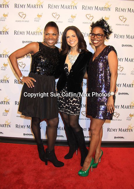 """Deborah Koenigsberger and Soledad O'Brien at Hearts of Gold's 16th Annual Fall Fundraising Gala & Fashion Show """"Come to the Cabaret"""", a benefit gala for Hearts of Gold on November 16, 2012 at the Metropolitan Pavilion, New York City, New York.   (Photo by Sue Coflin/Max Photos)"""