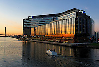 New ANZ Bank Headquarters on Yarra river frontage, Docklands area Melbourne, Victoria. Australia.<br />