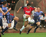 Want away Ranger Rino Gattuso takes the ball past the Pars defence season 1998-99