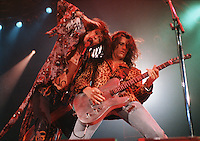 Aerosmith's Steven Tyler and Joe Perry, London Wembley Arena, 7 Dec 1993  Credit: Ian Dickson/MediaPunch