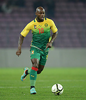 FUSSBALL   INTERNATIONAL   Testspiel    Albanien - Kamerun       14.11.2012 Achille Emana (Kamerun) am Ball