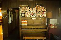 The piano in the Hamilton Club, Morris Run, PA.