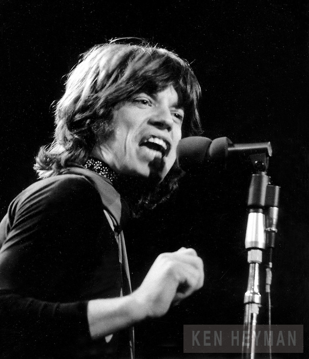 Mick Jagger in concert at Madison Square Garden.