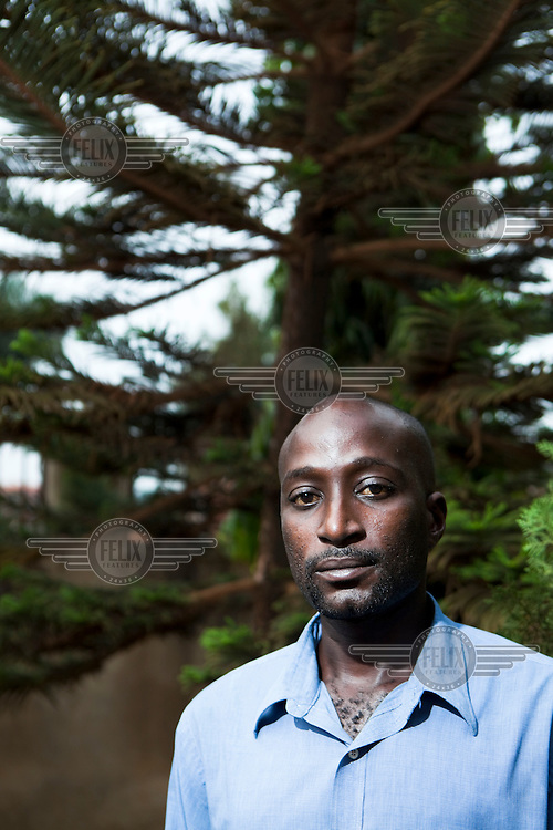 Dennis, a gay rights activist who campaigns against homophobia. Parts of the Ugandan church and media have been campaigning against homosexuals and lesbians.