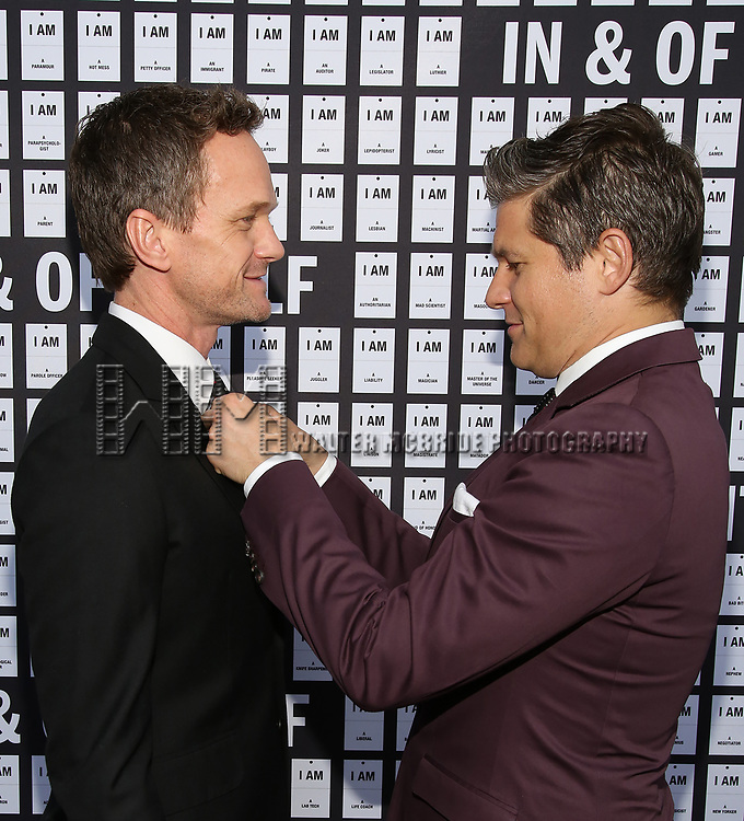 Neil Patrick Harris and David Burtka attend the Opening Night 'In & Of Itself' at the Daryl Roth Theatre on April 12, 2017 in New York City