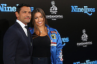 HOLLYWOOD, CA - AUGUST 01: Mark Consuelos, Lola Consuelos at the film premiere for 'Nine Lives' at the TCL Chinese Theatre on August 1, 2016 in Hollywood, California. Credit: David Edwards/MediaPunch