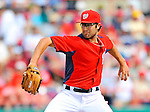 7 March 2012: Washington Nationals pitcher Matt Purke on the mound against the St. Louis Cardinals at Space Coast Stadium in Viera, Florida. The teams battled to a 3-3 tie in Grapefruit League Spring Training action. Mandatory Credit: Ed Wolfstein Photo